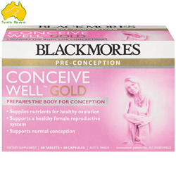 Hỗ trợ tăng Khả Năng Thụ Thai-Blackmores Conceive Well Gold 56 Tablets
